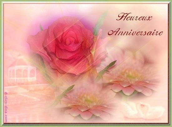 bon anniversaire rose